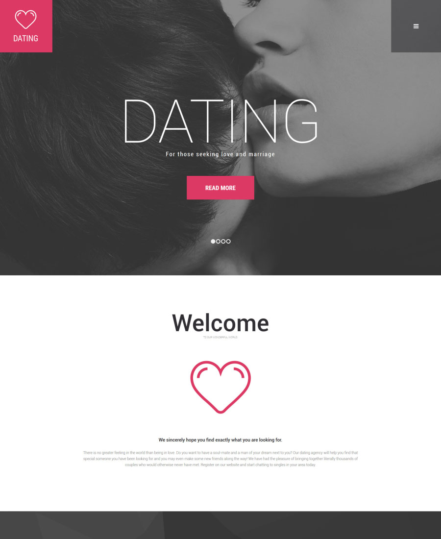 Dating site template html 5