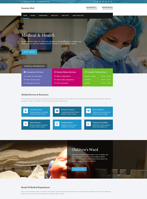 Escarine-Med free html5 template