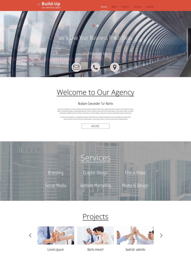 Free Responsive Corporate Template