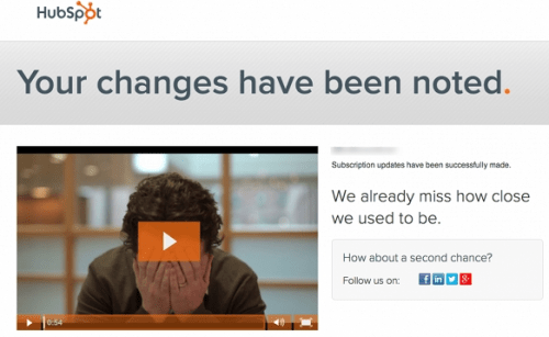 Hubspot-Unsubscribe