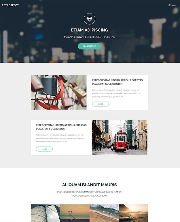 Retrospect - free HTML5 Website Template