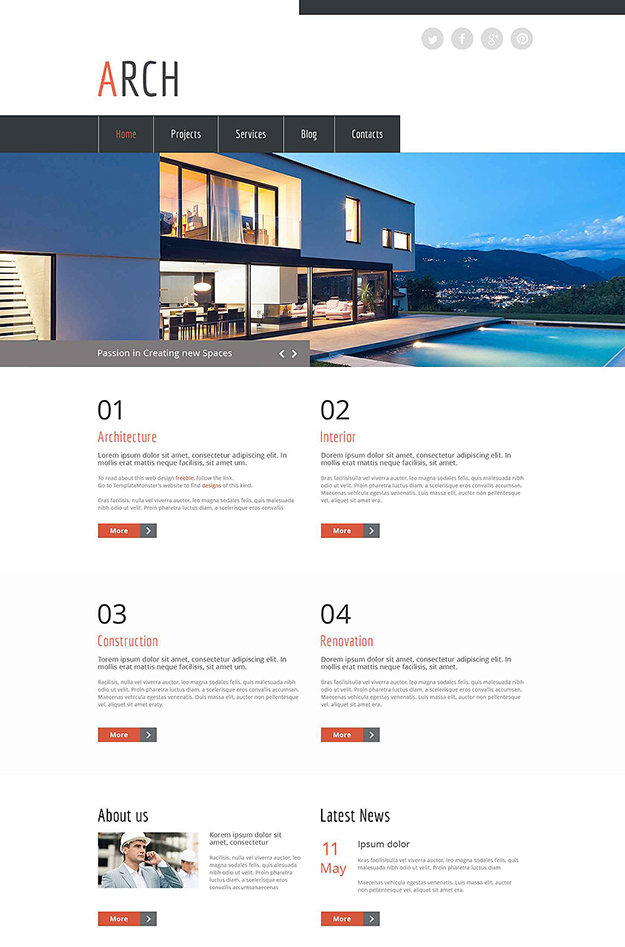 arch - free HTML5 Website Template