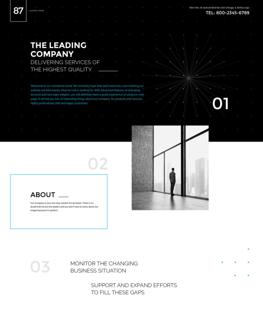 one of the most attractive landing page templates