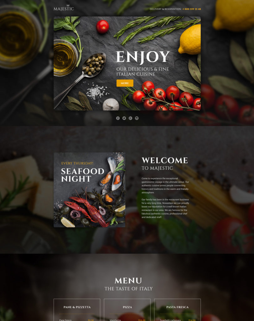 Majestic Landing Page Template