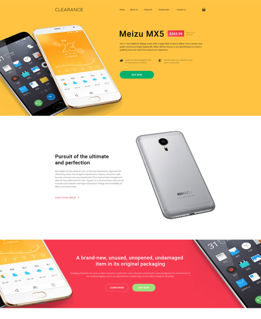 one of the most stylish landing page templates