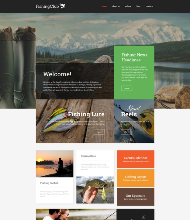 fishing-club WordPress theme