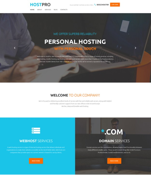 hostpro WordPress theme