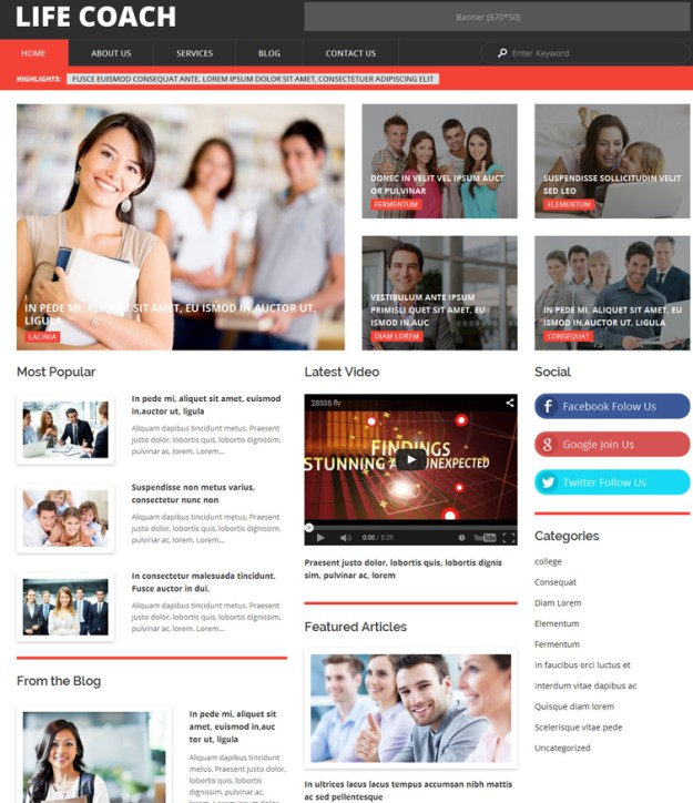 life-coach WordPress theme