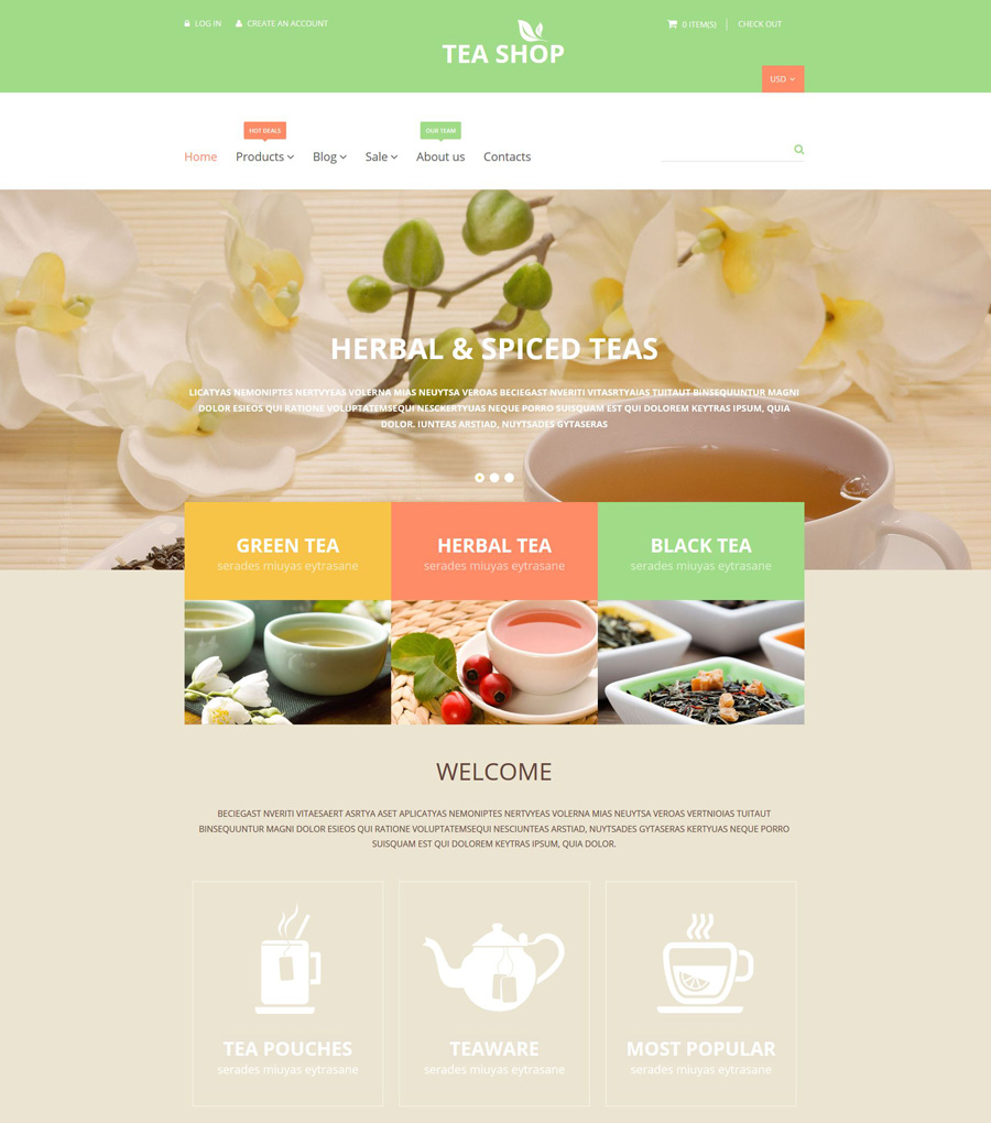 25-tea-shop shopify theme