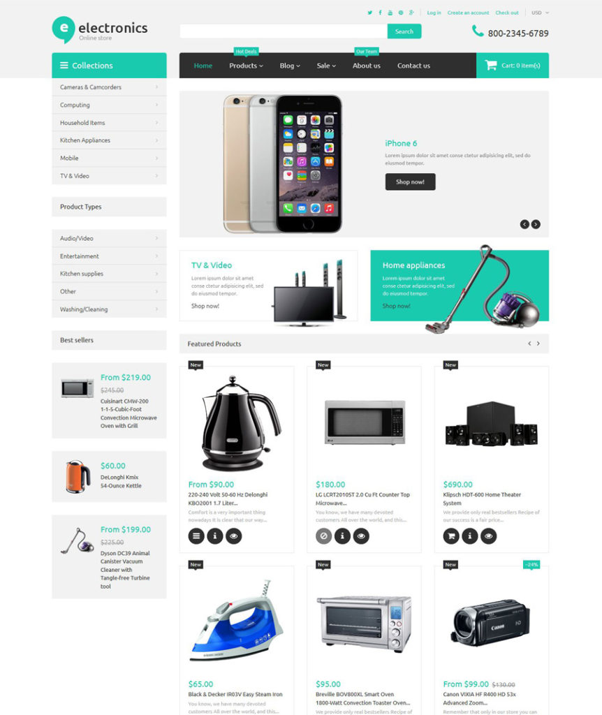 8-electronics-retailer shopify theme