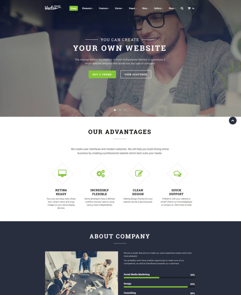 grand-vector - one of the best multipurpose website templates
