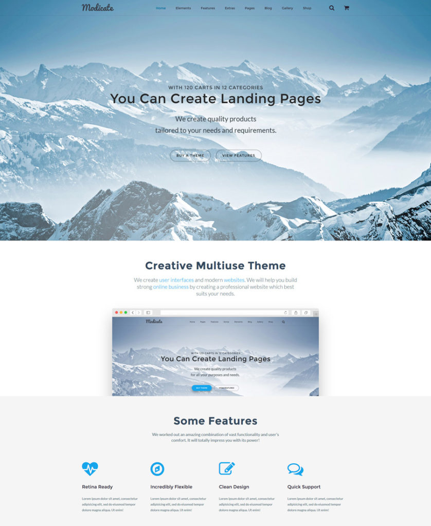 modicate - one of the best multipurpose website templates