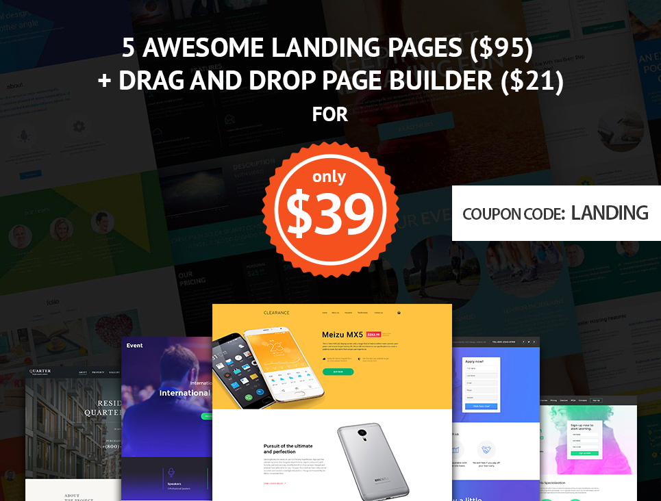 special offer- 5 landing page templates for only $39.1