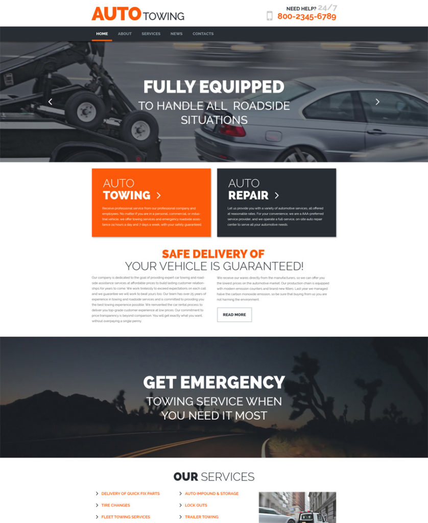 AutoTowing-responsive-WordPress-Theme