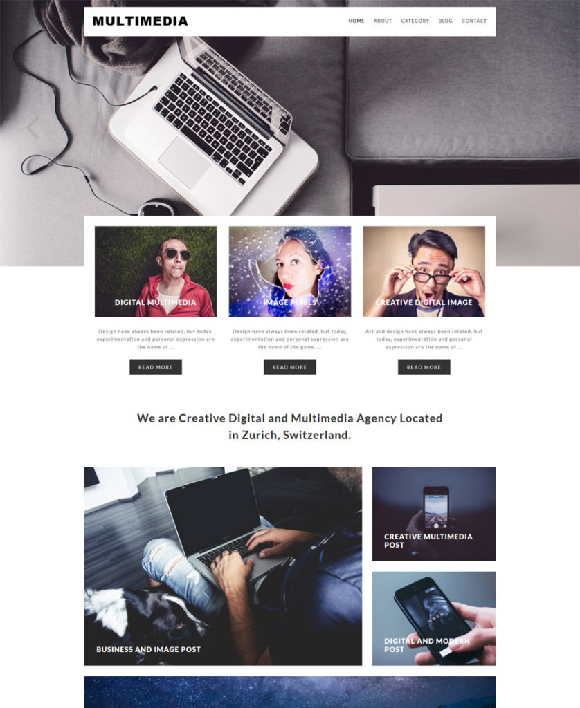 Multimedia-Responsive-WordPress-Theme - responsive WordPress themes
