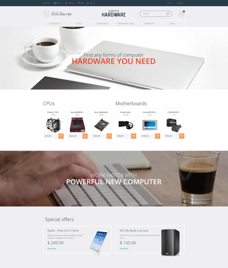 Computer Hardware PrestaShop Theme - responsive eCommerce templates