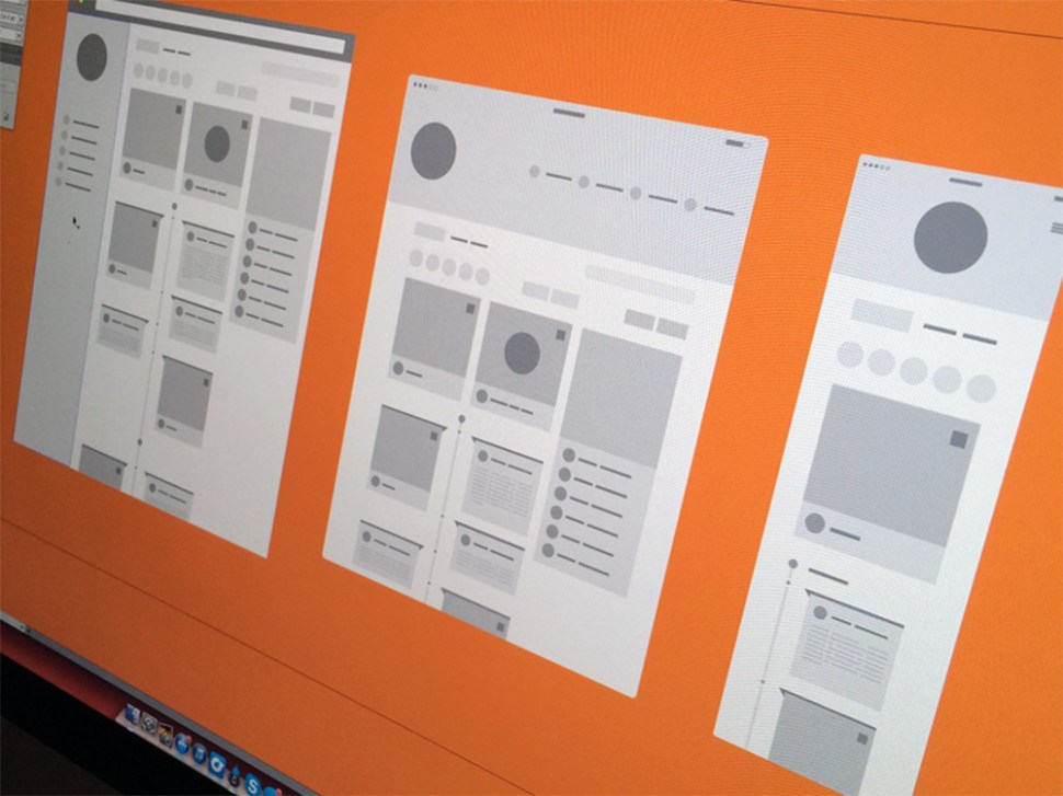 digital wireframes design