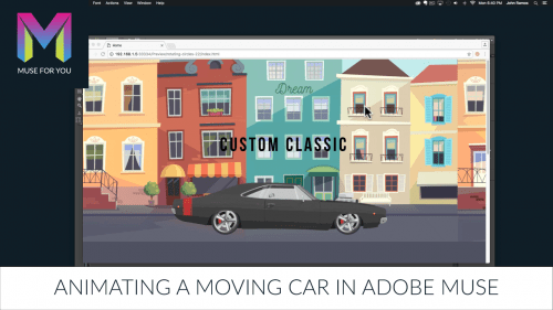 Muse For You - Animating a Moving Car in Adobe Muse - Adobe Muse CC