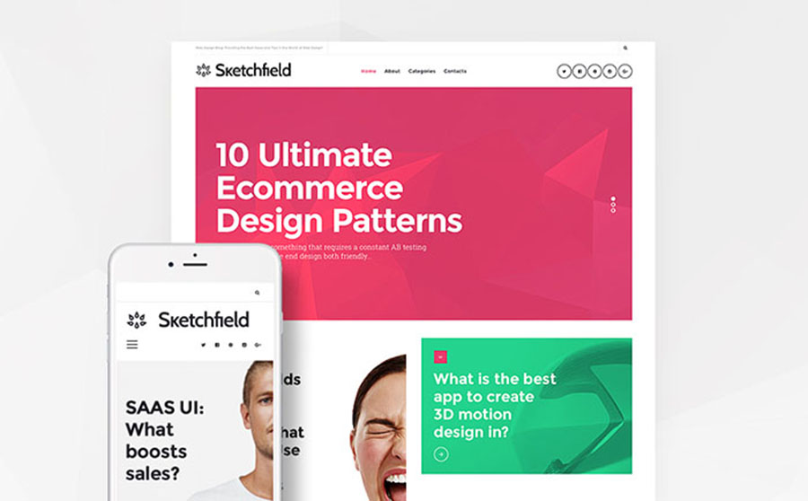 Web Design Blog WordPress Theme