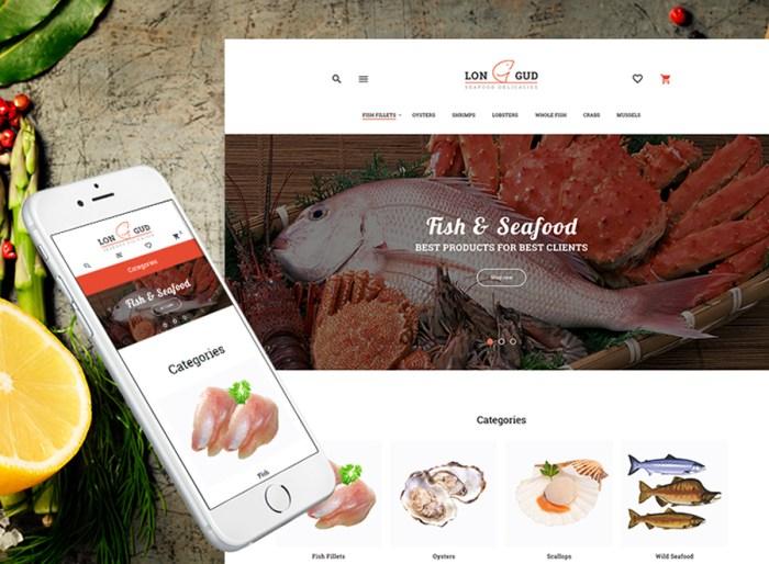 Longud - Seafood Delicacies Magento Theme