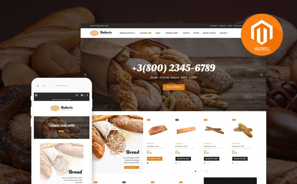 Bakerix - Delicious Bakery Magento 2 Theme