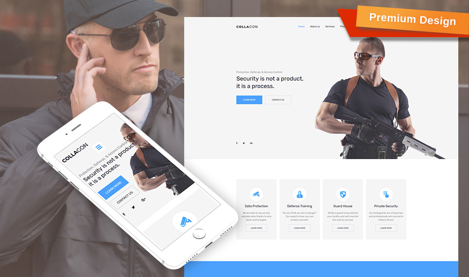 Collagon - Premium Moto CMS 3 Template
