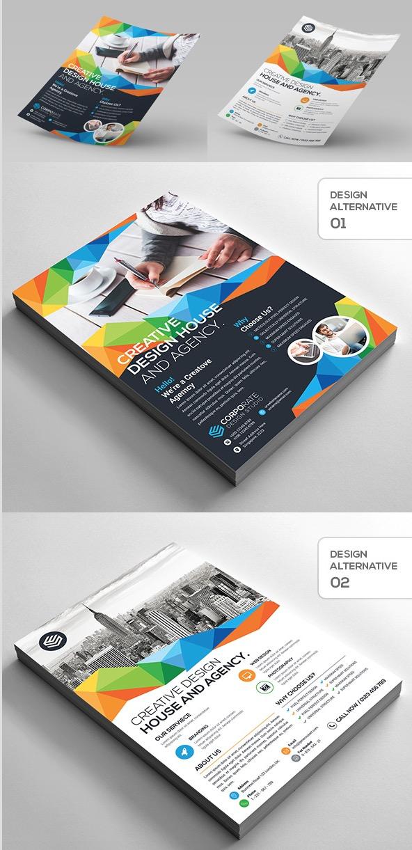 9-Design Creative Corporate Flyer