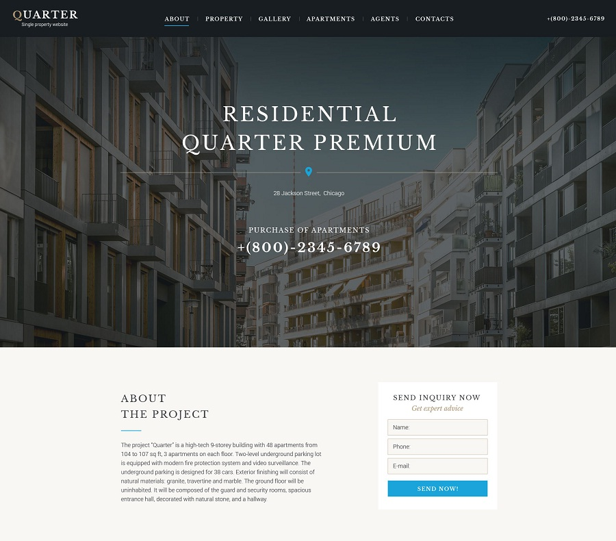 Real Estate Responsive Landing Page Template