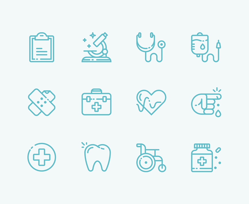 detailed-medical-icons