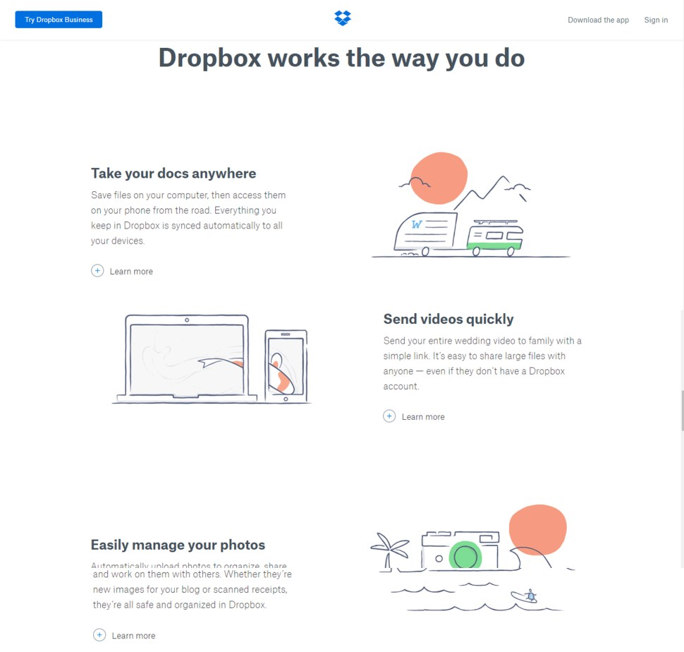 Dropbox Hand Drawn icons