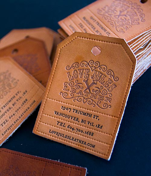17 great letterpress business cards that define past and present leather business card reheart Images