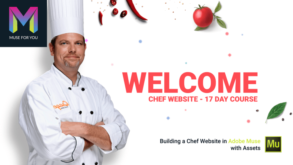 Building a Chef Website in Adobe Muse with Assets - Adobe Muse CC - Muse For You