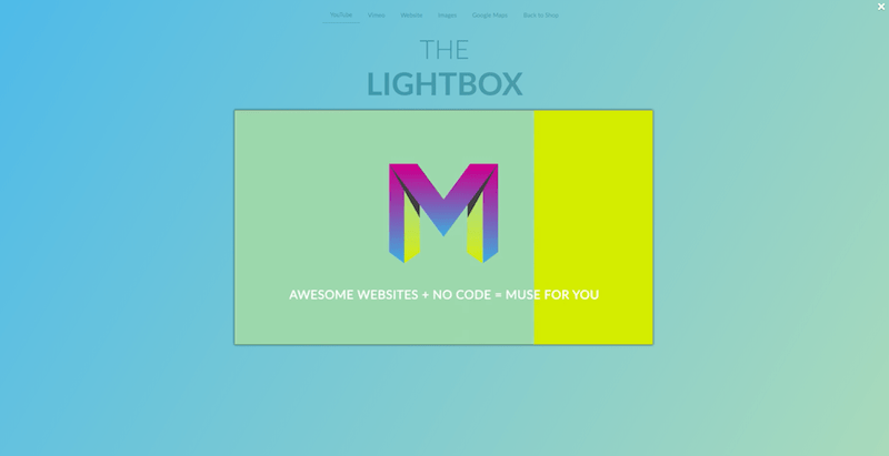 Muse For You - The Lightbox Widget - Adobe Muse CC - Web Design Ledger