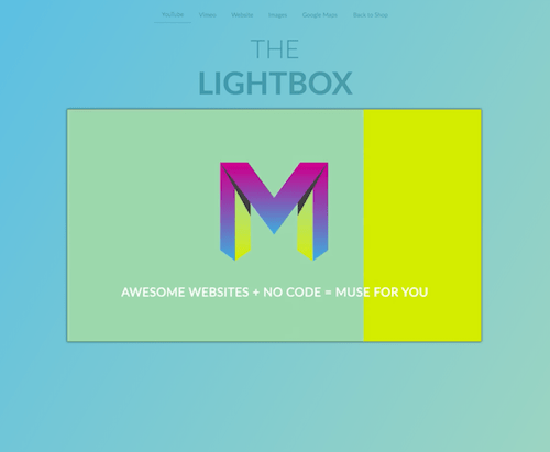 Muse For You - The Lightbox Widget - Adobe Muse CC - Web Design Ledger