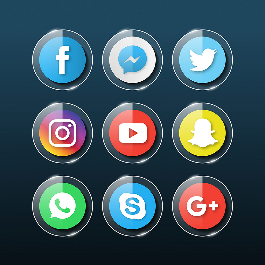 social-media-glass-icons