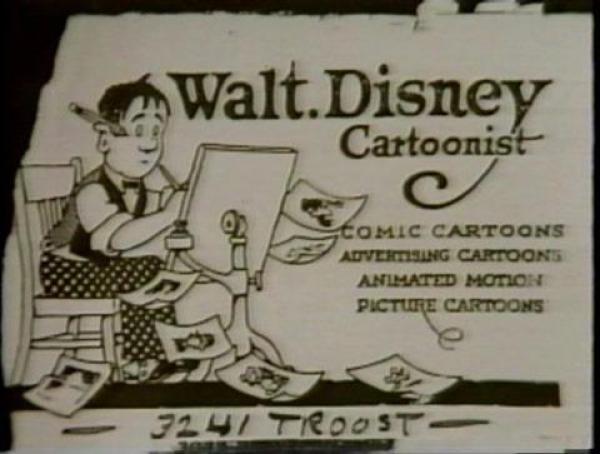 Walt Disney's Business Card