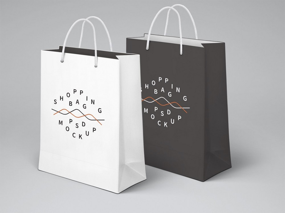 white-grey-shopping-bag