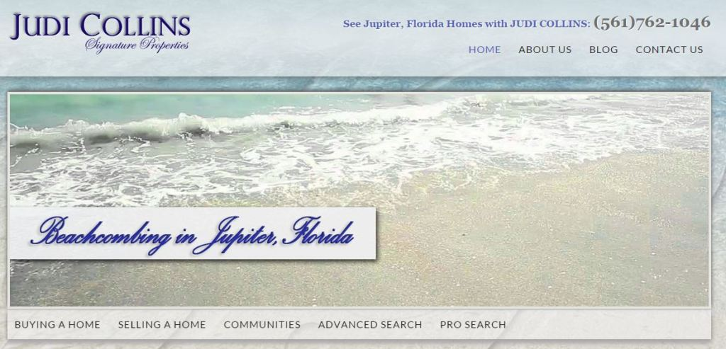 Realtor Jupiter Florida, beautiful website Jupter Florida