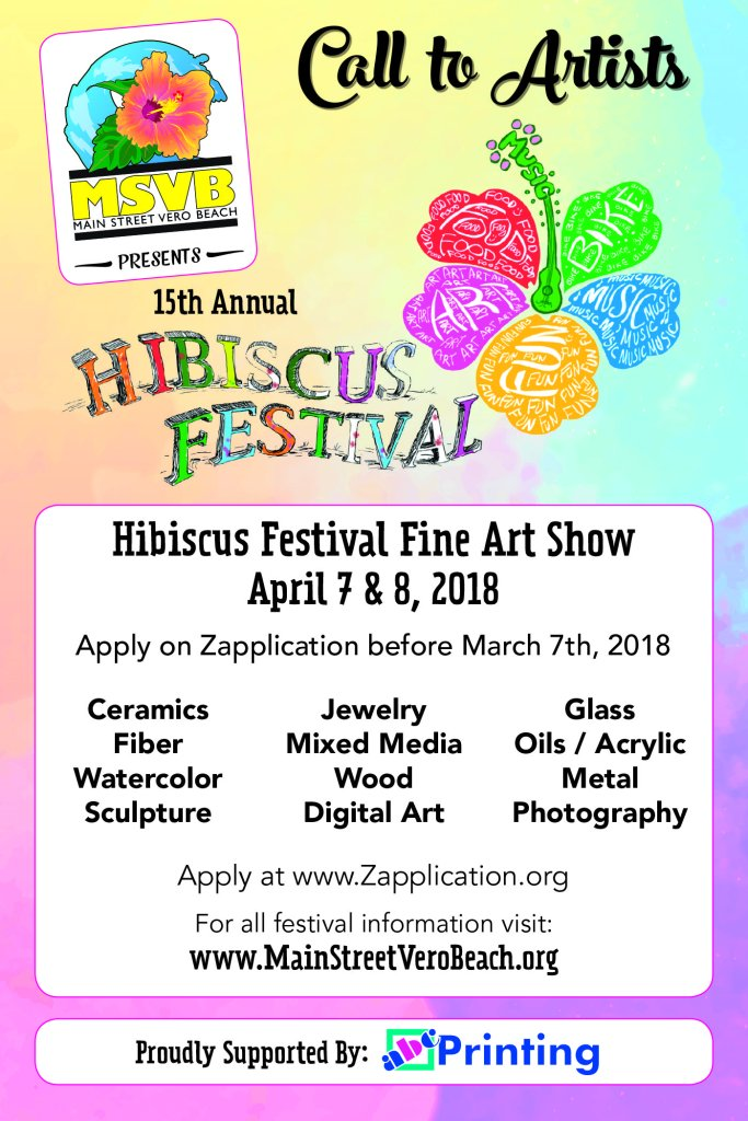 Vero Beach Fine Arts Hibiscuc Festival of the arts, What to do in Vero Beach, April 7th and april 8th, 2018, Fine Arts and Crafts Festival, Vero Beach