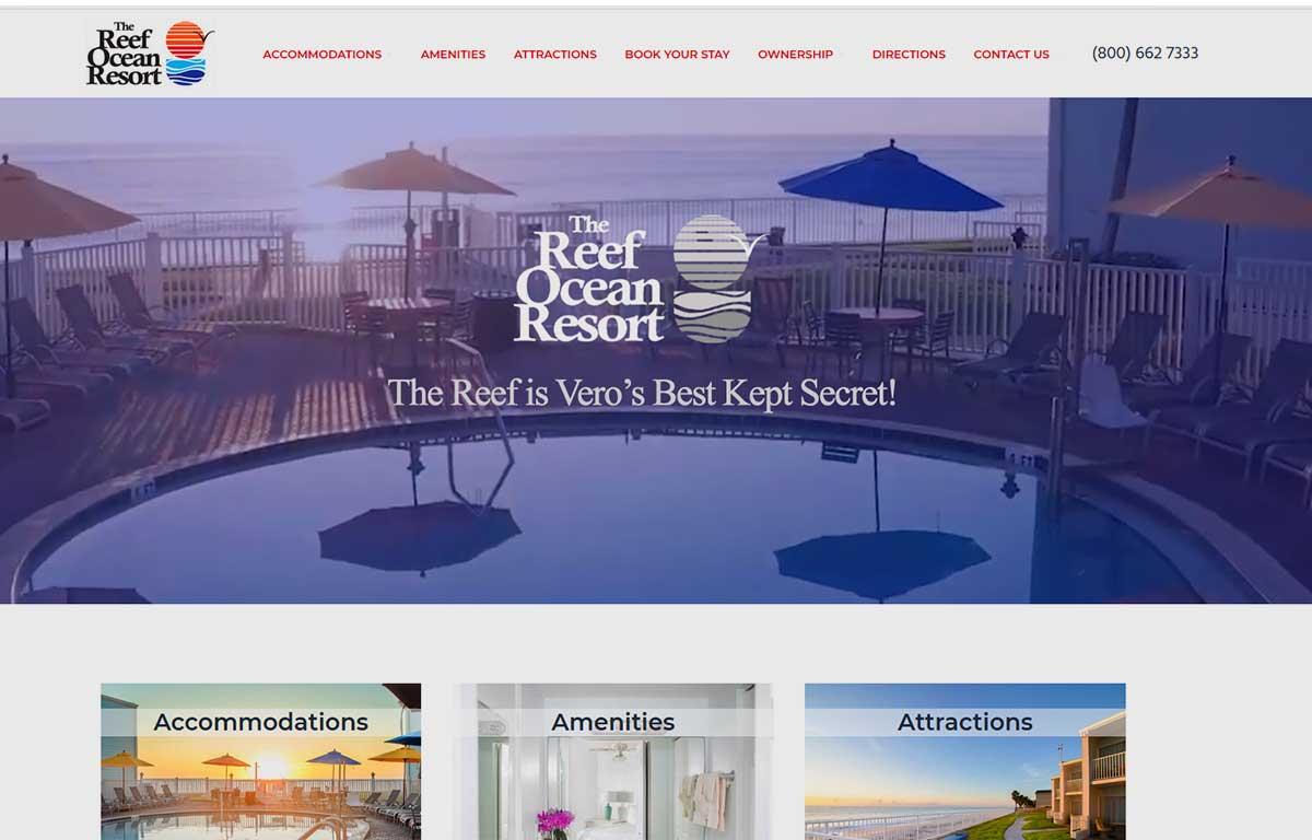Reef Ocean Resort, Vero Beach, Florida Best Deal on the beach in Vero Beach.