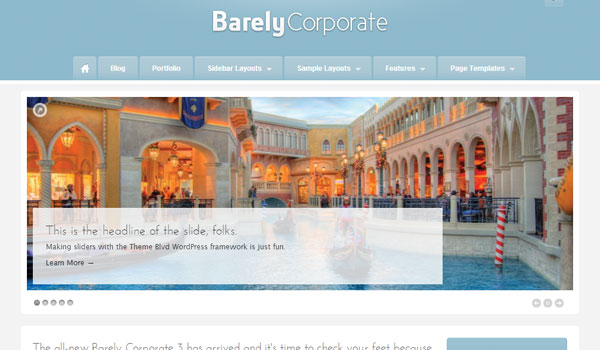 Barely Business Corporate Theme