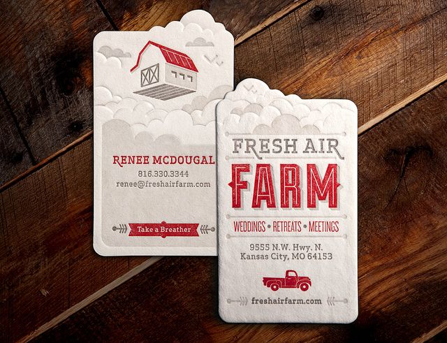 Fresh Air Farm Business Card