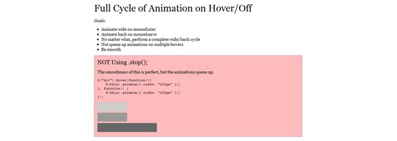 Fully Executing jQuery Animations Without Queuing