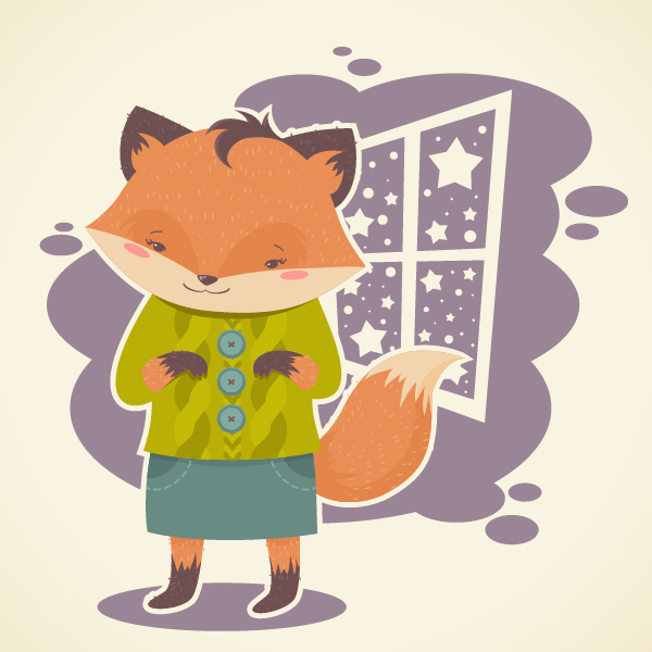 How to Create a Flat, Subtle Textured Fox