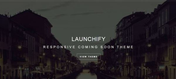 Launchify – Responsive Coming Soon Template