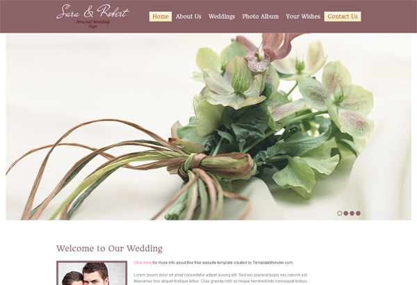 Wedding Site HTML5 CSS3 Template