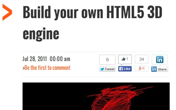 Code your own HTML5 3D Engine