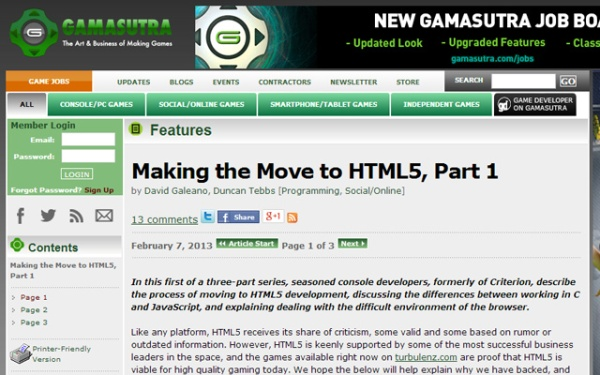 Making the Move to HTML5