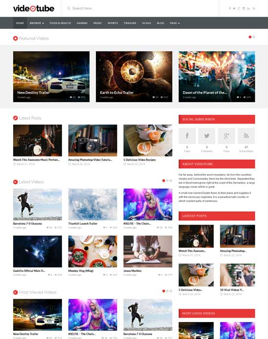 VideoTube-best-wordpress-theme-march-2014