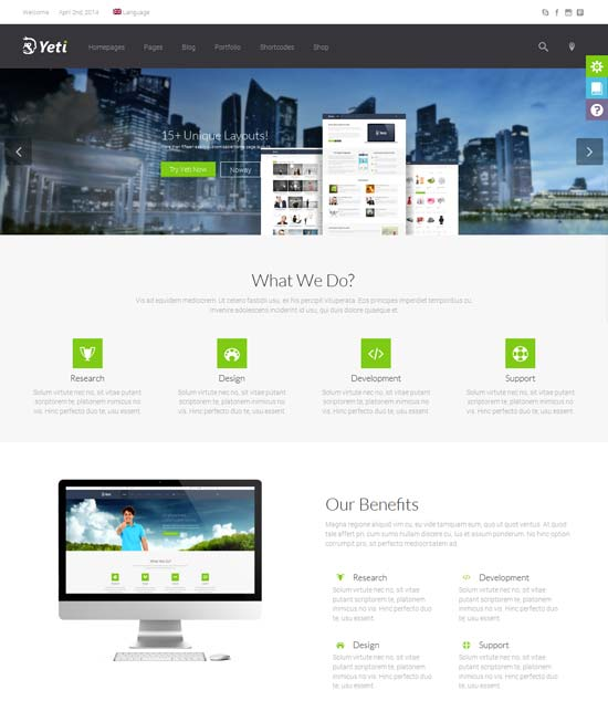 Yeti-best-wordpress-theme-march-2014